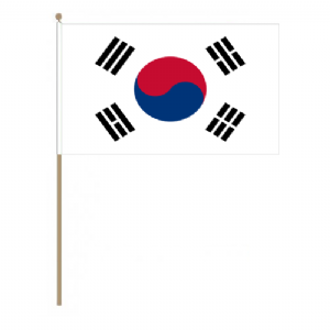South Korea Country Hand Flag, large.